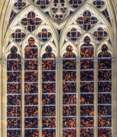 Kölner Dom - Richter-Fenster in der Südfassade